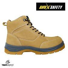 Enclume de sécurité sheffield S3 SRC Miel Nubuck Steel Toe Cap Wide Fit Bottes de sécurité
