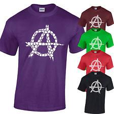 ANARCHY T-Shirt Mens anarchic rebel distressed vintage cracked
