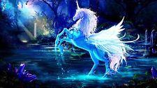 Pegasus Unicorn Fantasy Wall Art Poster  | Sizes A4 to A0 UK Seller | E131