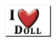 SOUVENIR UK - SCOTLAND FRIDGE MAGNET UNITED KINGDOM I LOVE DOLL (HIGHLAND)