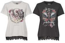 Camiseta para señoras onlprince S/S Habit / Victorious Estampado Encaje NUEVO