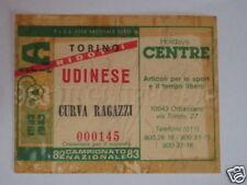 TORINO - UDINESE BIGLIETTO TICKET 1982 / 83