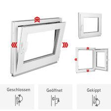 Fenster Kunststoff Kellerfenster 3 fach Verglasung Breite 95,100,105,110 Premium