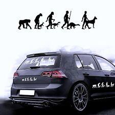 Autocollants Pour Voiture Film De Sticker Evolution Chien Dogue Allemand
