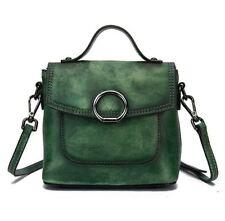 New Retro Women's Genuine Cow Leather Shoulder Messenger Bag Handbag Wiped Color