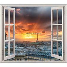 Sticker fenêtre trompe l'oeil La Tour Effeil réf 5448 5448