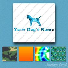 Custom Border Terrier Dog Name Decal Sticker - 25 Printed Fills - 6 Fonts