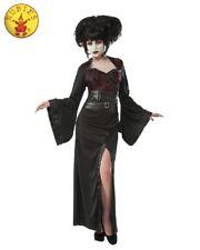 RD Ladies Costume Fancy Dress - Japan Halloween Scary GOTHIC GEISHA 810542