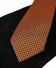 $240 BRIONI   -   Orange & Black Geometric Print Tie 2018!