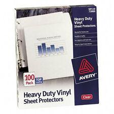 Avery 73900 Top Loading Vinyl Sheet Protectors Heavy Gauge Clear 100 per Box