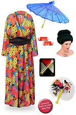 Geisha Neon Retro Floral Plus Size Halloween Costume Robe 1x 2x 3x 4x 5x 6x 8x
