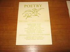 1967 Robert Duncan, Basil Bunting, Berry, Ammons, Sorrentino, British Poetry