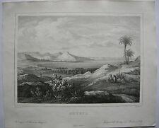 Izmir Smyrna Türkei Lithographie von Federer nach Bernatz 1839