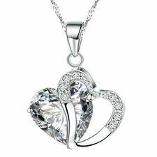 BOOLAVARD moda cristalli cuore forma collana pendente + scatola regalo