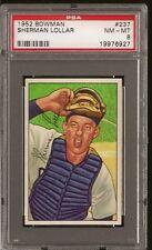 1952 Bowman Set # 237 Sherman Lollar PSA 8
