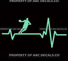 VRS HEART BEAT LINE BASKETBALL Point Guard Dribbling Hoop ball CAR VINYL DECAL