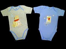 2 piece set bodysuit Winnie Pooh Disney Short Sleeve Blue 74 80 86 92 98 NEW
