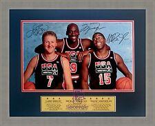 Larry Bird Michael Jordan Magic Johnson A3 Photo Signed Print Only or Framed