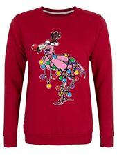 Sweater Festive Flamingo Christmas Jumper Women's Red