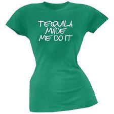 Cinco de Mayo - Tequila Made Me Do It Kelly Green Soft Juniors T-Shirt