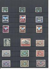 Generalgouvernement, Einzelmarken aus Mi.-Nrn. 14 - 125 + Dienst, gestempelt o