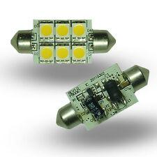 Festoon 31mm 4SMD 12v 24v 10-30v DC 0.8W Cool White LED Bulb Caravan Boat 0902