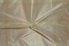 SCALAMANDRE Corfou Plaid Taffeta Celadon Rose Beige Silk Remnant New