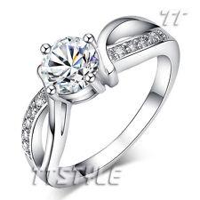 TT White Gold Plated Engagement Wedding Ring (RF68)