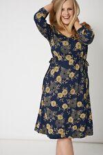 PLUS SIZE - IVANS SHOP - Navy Fashion Dress