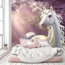 3D Cartoon Unicorn 786 Wallpaper Mural Paper Wall Print Murals UK Lemon