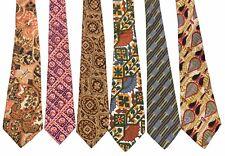 Vintage Wide Fat Neckties Handmade PRINTED SILK Robert Talbott HanFabs Minar