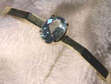 Sterling Vermeil Blue Topaz Bangle Bracelet
