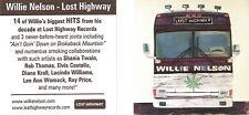 Willie Nelson Lost Highway Marijuana Pot Leaf Sticker