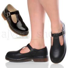 Femmes plat talon bas Mary Jane salomé Geek boucle école chaussures pointure