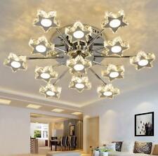 Yc  Modern Star LED Crystal Ceiling Light Living Room Bedroom Lobby Pendant Lamp