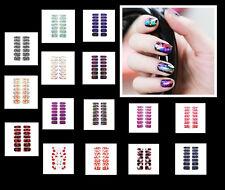14x Nagel - Fuß Folie 15 Versch. Motive Aufkleber Nail Foil Nail Art Stripes FN