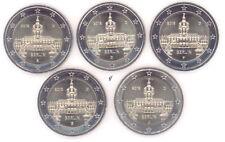 Alemania cuanto 5 x 2 monedas conmemorativas de euro (adfgj) - todos los años de elegir