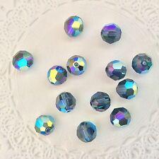 Swarovski® Crystal 8mm Round AB Colors/Coatings #5000 - 4 PC. PK. Choose Color