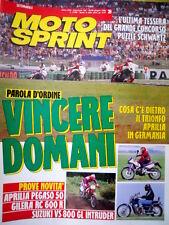 Motosprint 26 1992  Gilera RC 600 R, Aprilia Pegaso 50, Suzuki VS 800 Intruder
