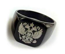 Masonic rings ebay. Black Steel Scottish Rite Freemason Russian Coat of Arms