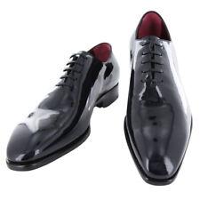 New $1125 Fiori Di Lusso Midnight Blue Tuxedo Shoes- (Monaco-Blu)