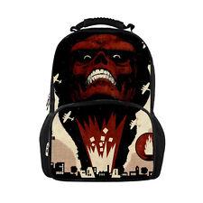 Men Backpack Skull Shoulder Bag Cool Computer Satchel Boys School Bookbag Cool