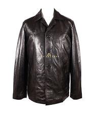 Stallion Black Men's Hip Length Real Soft Lambskin Leather Coat Jacket