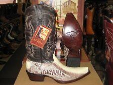 LOS ALTOS NATURAL WOMEN SNIP TOE OSTRICH LEG WESTERN COWBOY BOOT (M) L940577