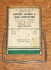 OLD ADVERTISING POCKET MIRROR TRINIDAD COLORADO NEWTON IOWA IA SAVINGS LOAN VTG