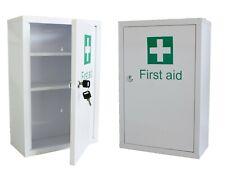 Medicine Cabinet - First Aid - Wall Mounted Lockable - Metal Cupboard + 2 Keys