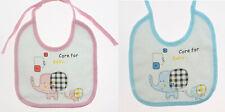 * Set Of 3: Waterproof Baby Bibs Kids Infant Feeding Cotton Blue or Pink