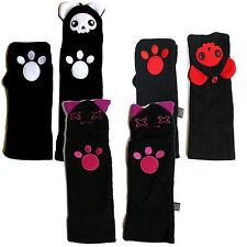DARKWORLD Femme Manchette Mitaines 100% polaire designs / bear & cat caractères