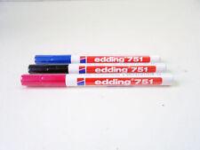 EDDING - 751 - PERMANENT MARKER - PUNTA TONDA 1-2 mm - nero / blu / rosso