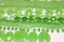 Genuine Stone Beads-Austrian Jade - Unique Green Opal Color-Wide Range of Shape